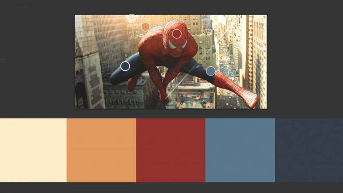"""""""Spiderman"""" color theory example"""