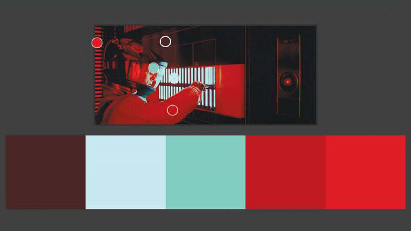 """""""2001: A Space Odyssey"""" color theory example"""