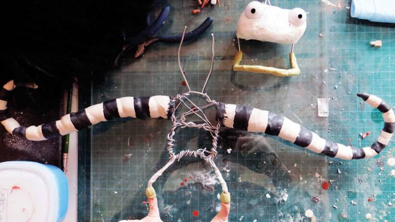 Puppet in process of construction.