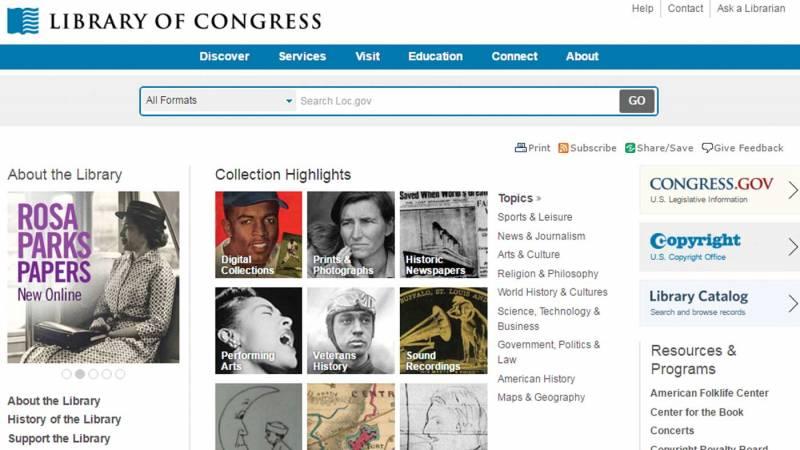 Library of Congress website