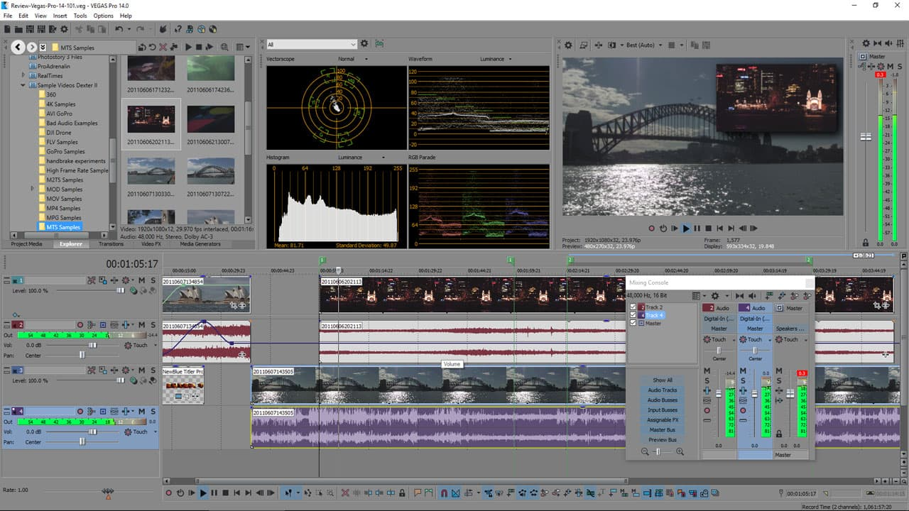 Vegas Pro 14 does feature proDAD Mercalli V4 for image stabilization