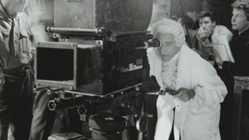 "French filmmaker Jean Cocteau filming ""The Testament of Orpheus"" in 1959"