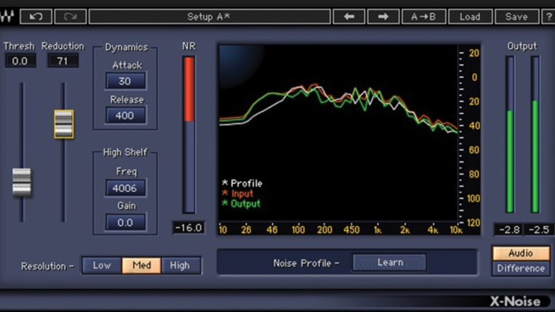 Plugins like Waves' X-Noise can profile and intelligently suppress offending sounds