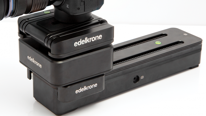 edelkrone Motion BOX is an app controlled motion control unit specializing in automated panning and tilting.