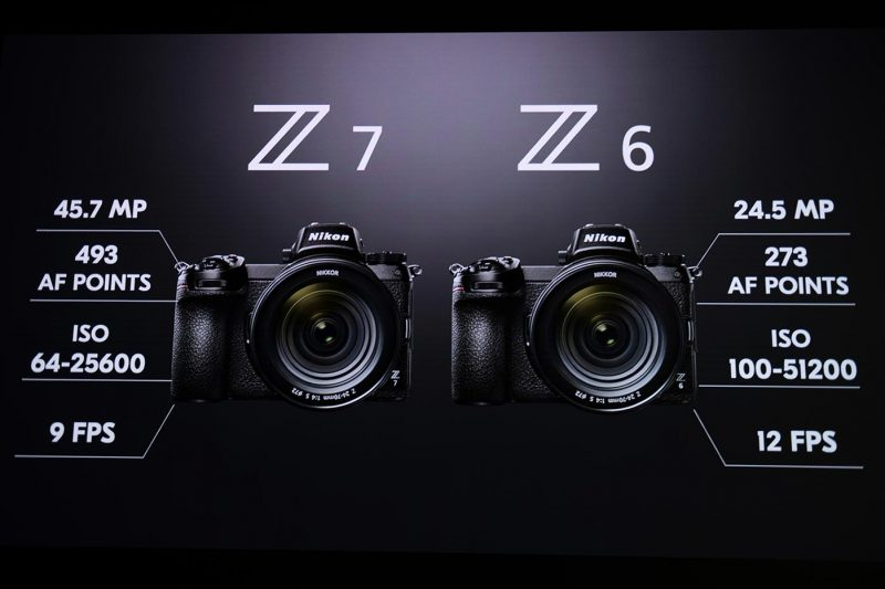 Nikon Z 7 and Z 6 side by side