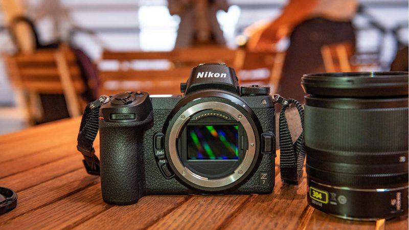 Nikon Z 7 with lens