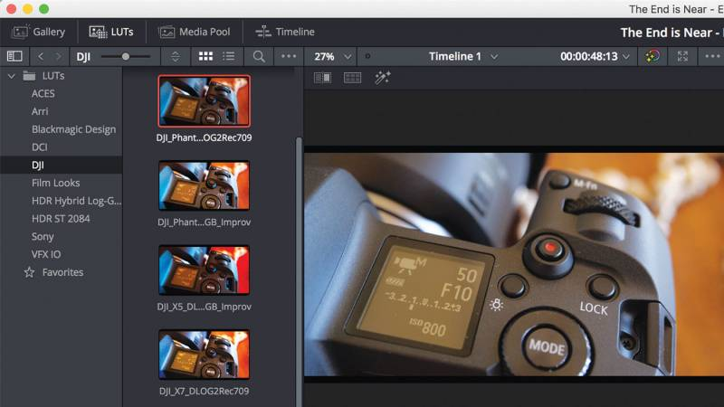 LUT Browser allows for easier LUT preview
