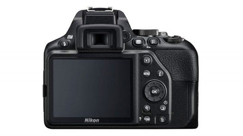 The back screen of the Nikon D3500
