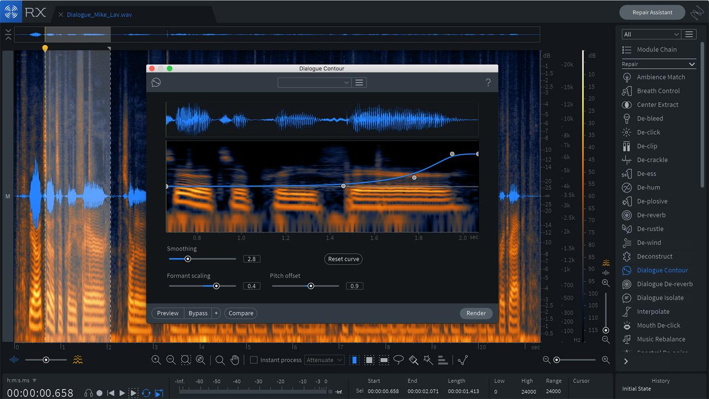 iZotope's RX 7 Advanced Gets Dialogue Contour and De-reverb