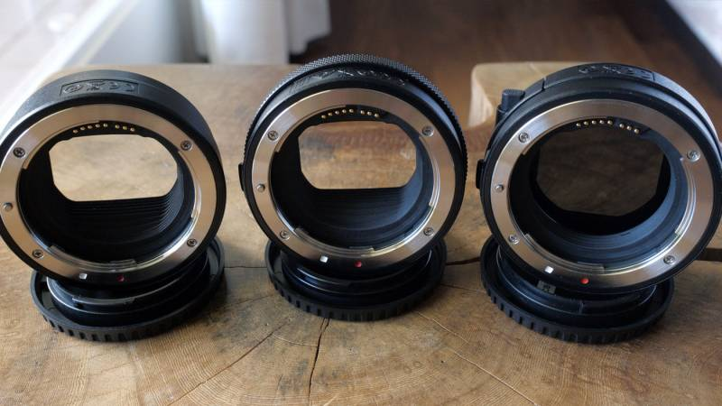 New Canon R mount lens adapters
