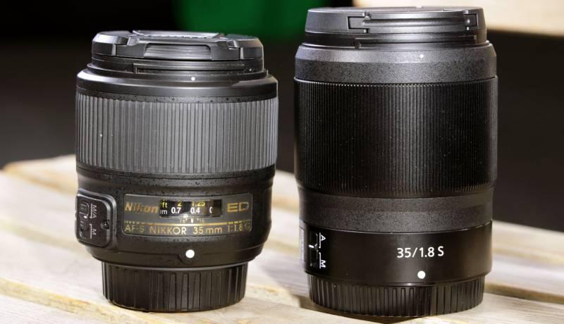 Two NIKKOR lenses side by side