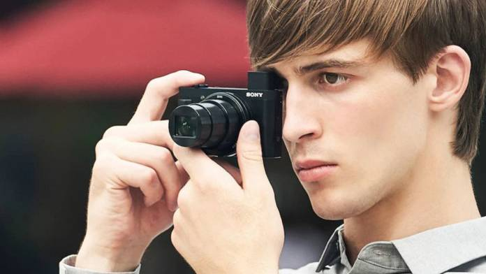 Man using the Sony HX99