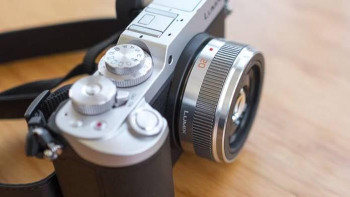 A Lumix camera on a table