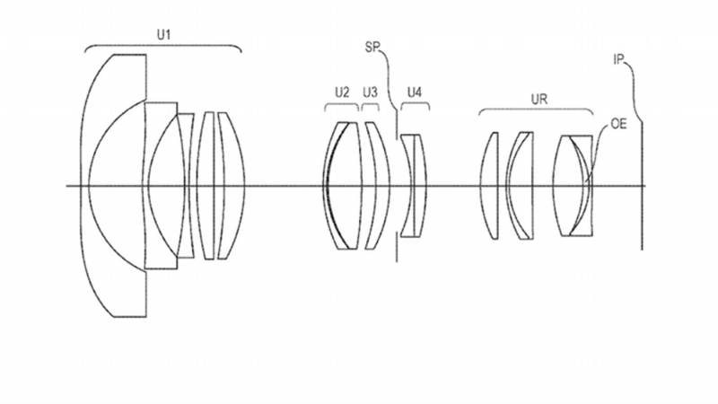 Canon EOS R lenses' patent drawings