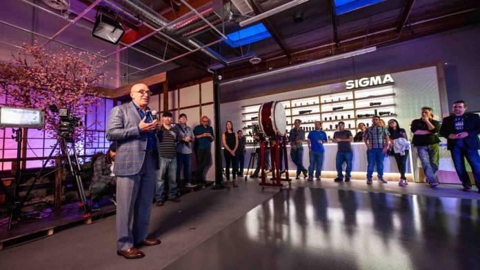 Sigma executive giving a presentation