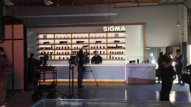 Lenses on view at Sigma Cine Burbank