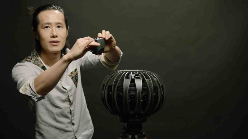 Hugh Hou with Jaunt Pro 360 camera
