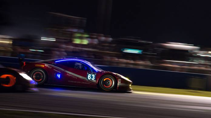 fast-cut of race car