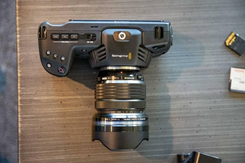 Blackmagic Design Pocket Cinema 4k view from above