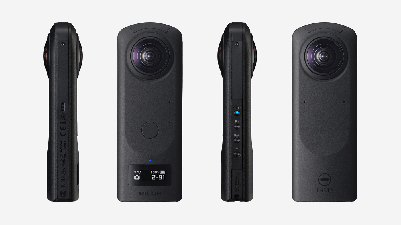 Ricoh Theta Z1 from multiple angles
