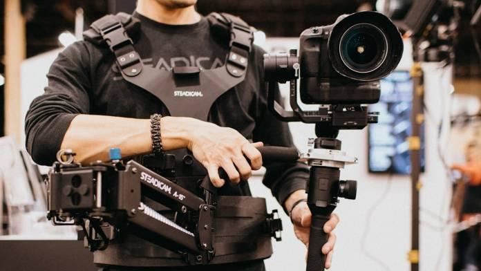 Camera operator using Steadimate-S