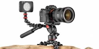 GorillaPod 3K PRO with camera attached