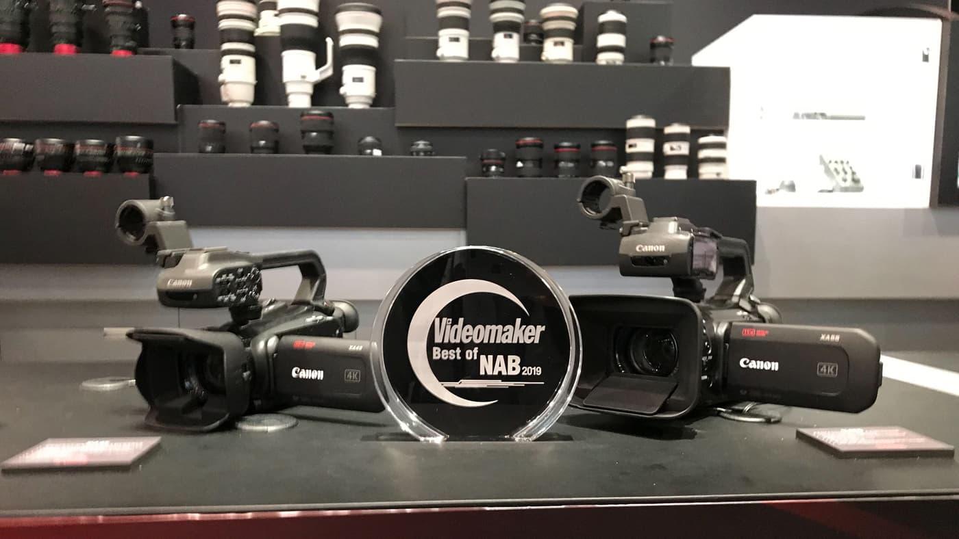 XA40 wins Videomaker's Best Camcorder award at NAB 2019