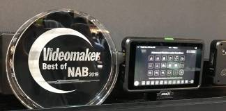 Atomos Shinobi with Best of NAB award