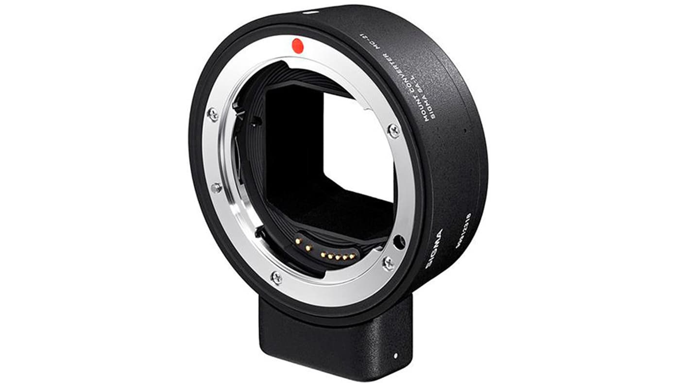Sigma MC-21 mount converter. Image courtesy bhphotovideo.com.