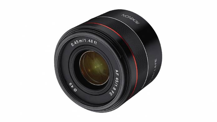 Rokinon's has just announced its 45mm f/1.8 FE lens for Sony E mount