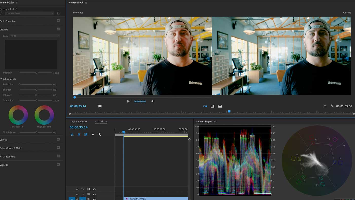 Color grading user interface