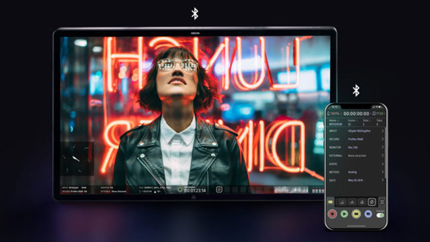 Atomos' app can control 4K recording, syncing and playback on the Neon monitors