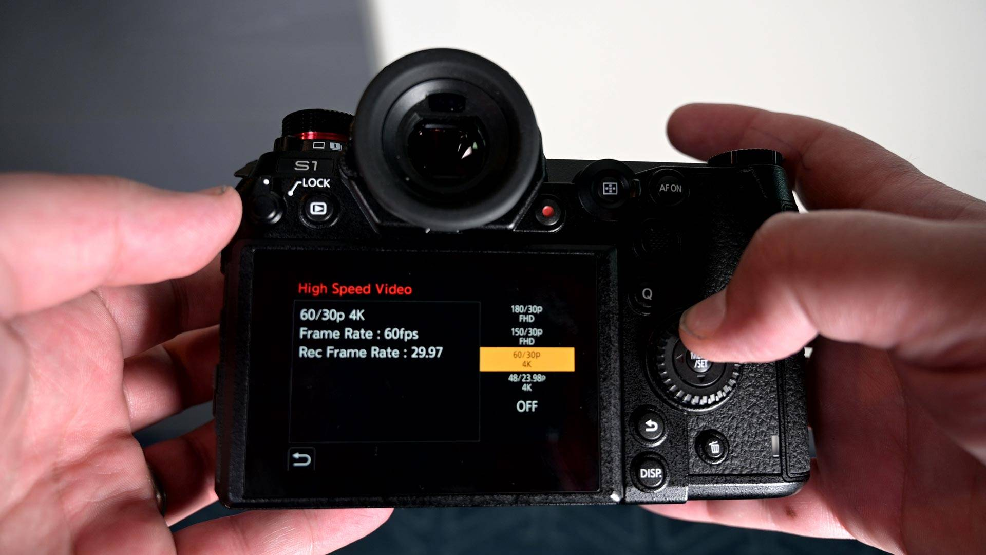 Pansonic Lumix S1 review - accessing the menu