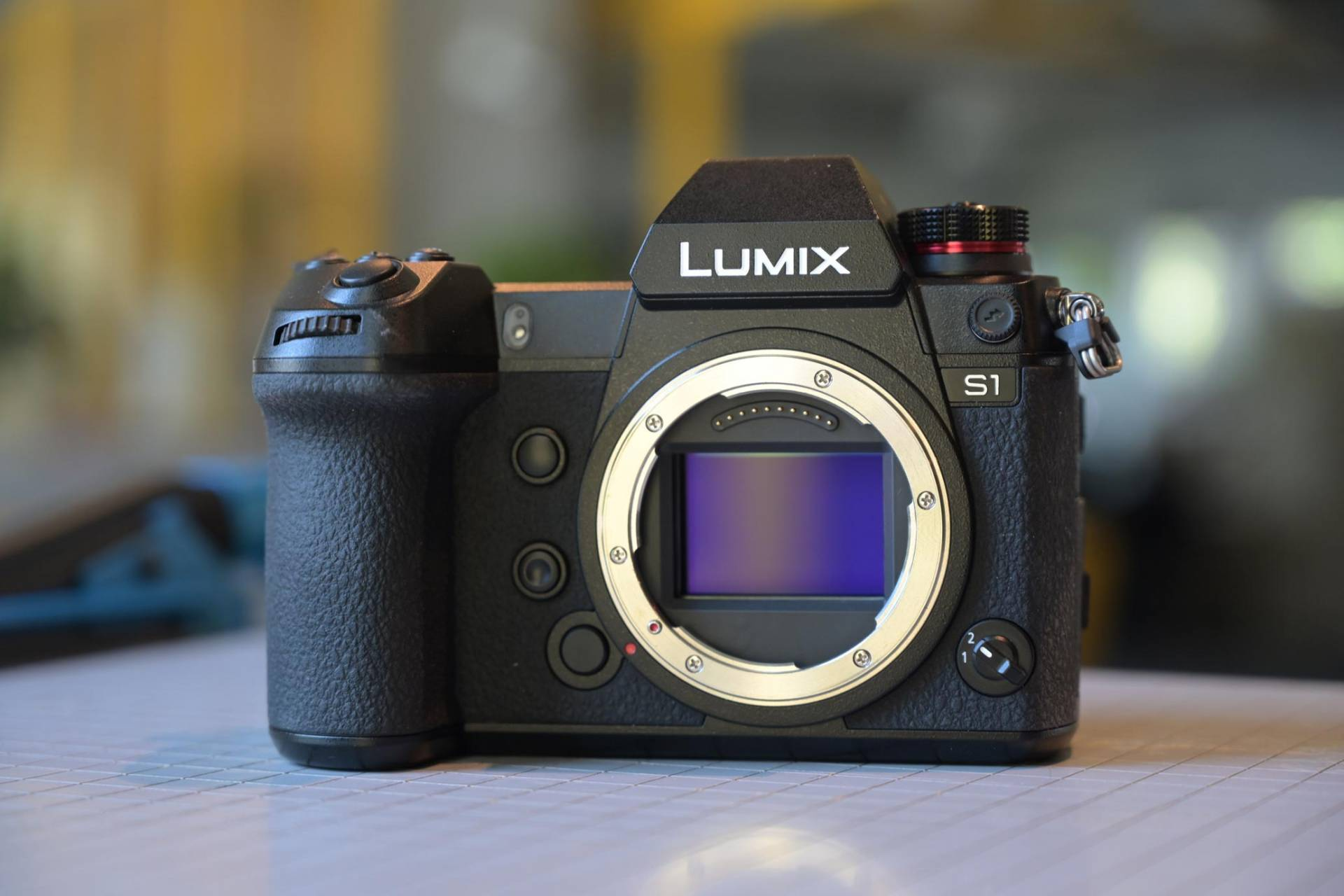 Pansonic Lumix S1 review - front view of camera with sensor exposed