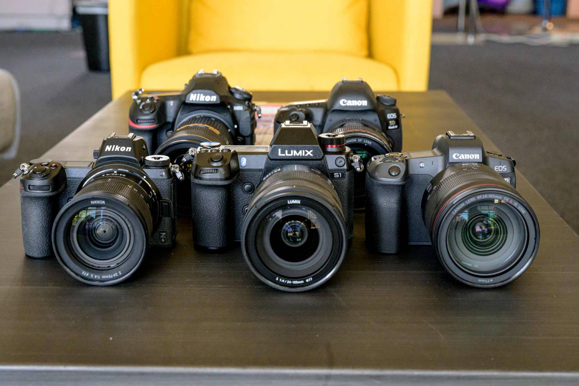 collection of relevant camera from Panasonic, Sony, Nikon and Canon