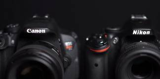 Canon and Nikon camera