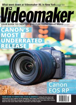 Videomaker Digital Edition, July 2019: Find the best mic for your next video in this month's buyer's guide. Discover the best of NAB 2019 and learn the basics of color grading. Reviewed: Canon EOS RP