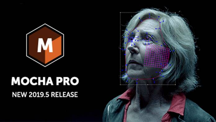 Mocha Pro 2019.5 logo over a piece of footage