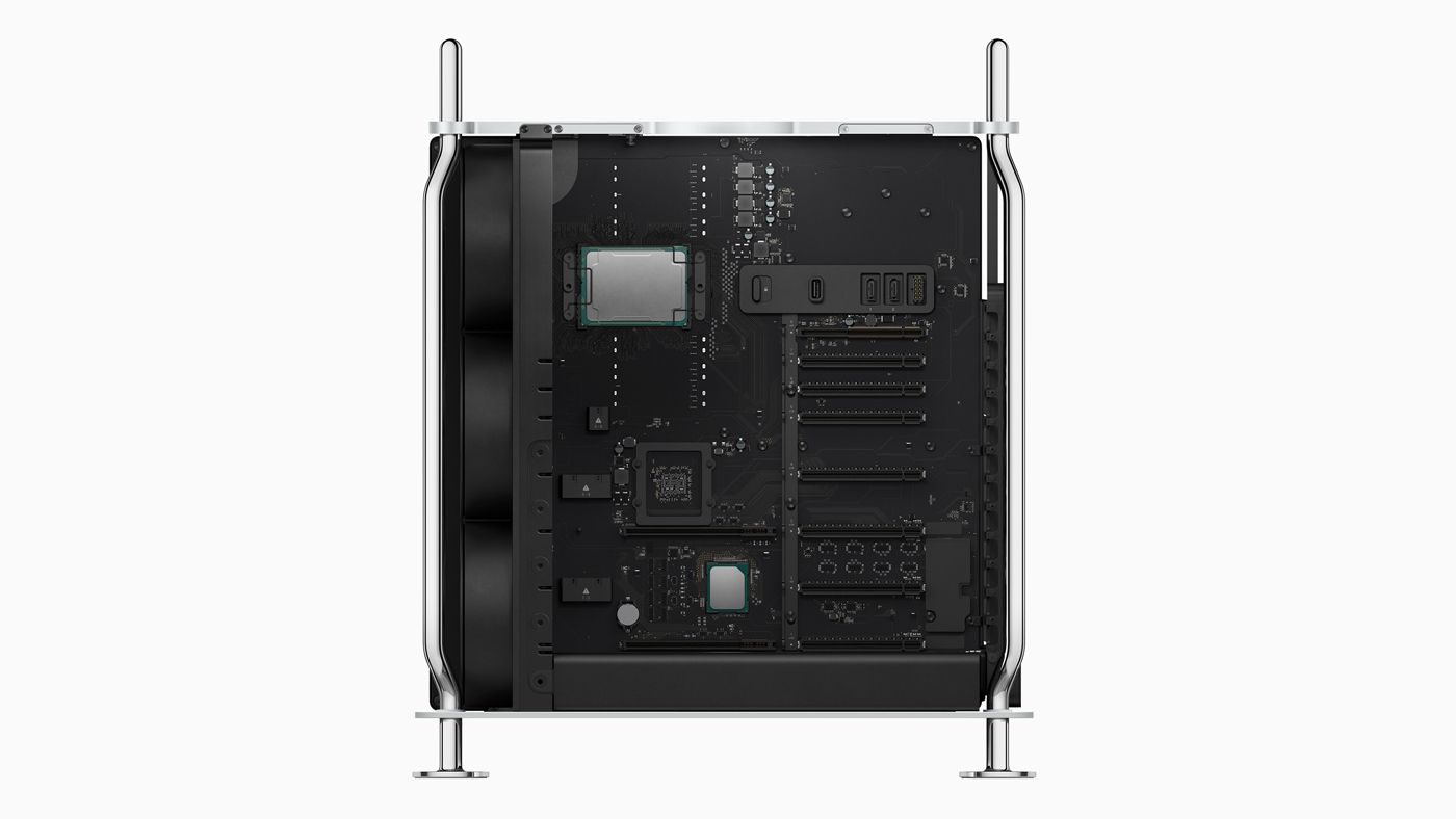The Mac Pro features Xeon processors up to 28 cores