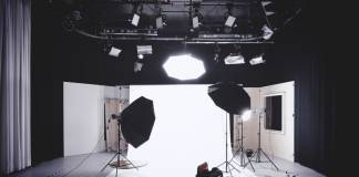 Video set with great video lighting