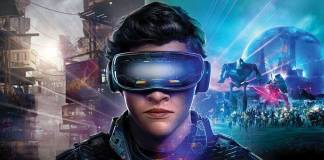 Man wearing VR goggles