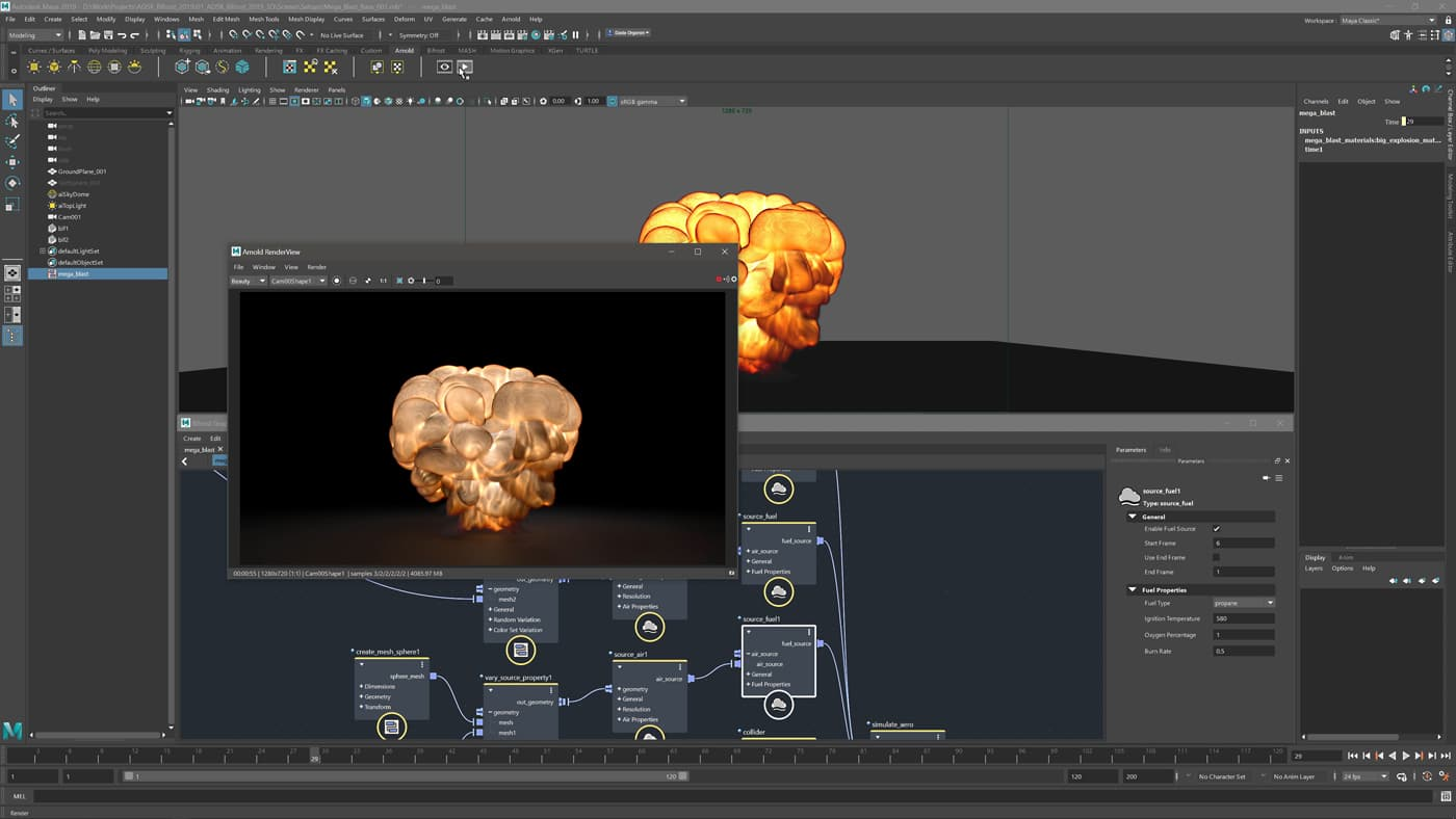 You can apply instances to scattered points, particle systems. and vertices of any other geometry