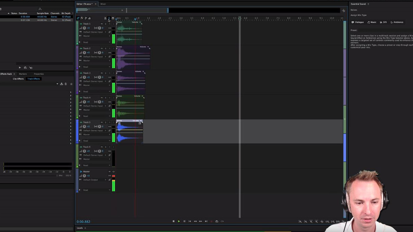 Time stretching in Adobe Audition