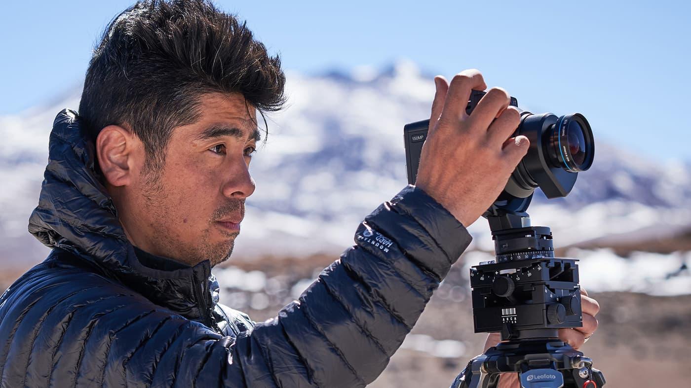 XT camera in use