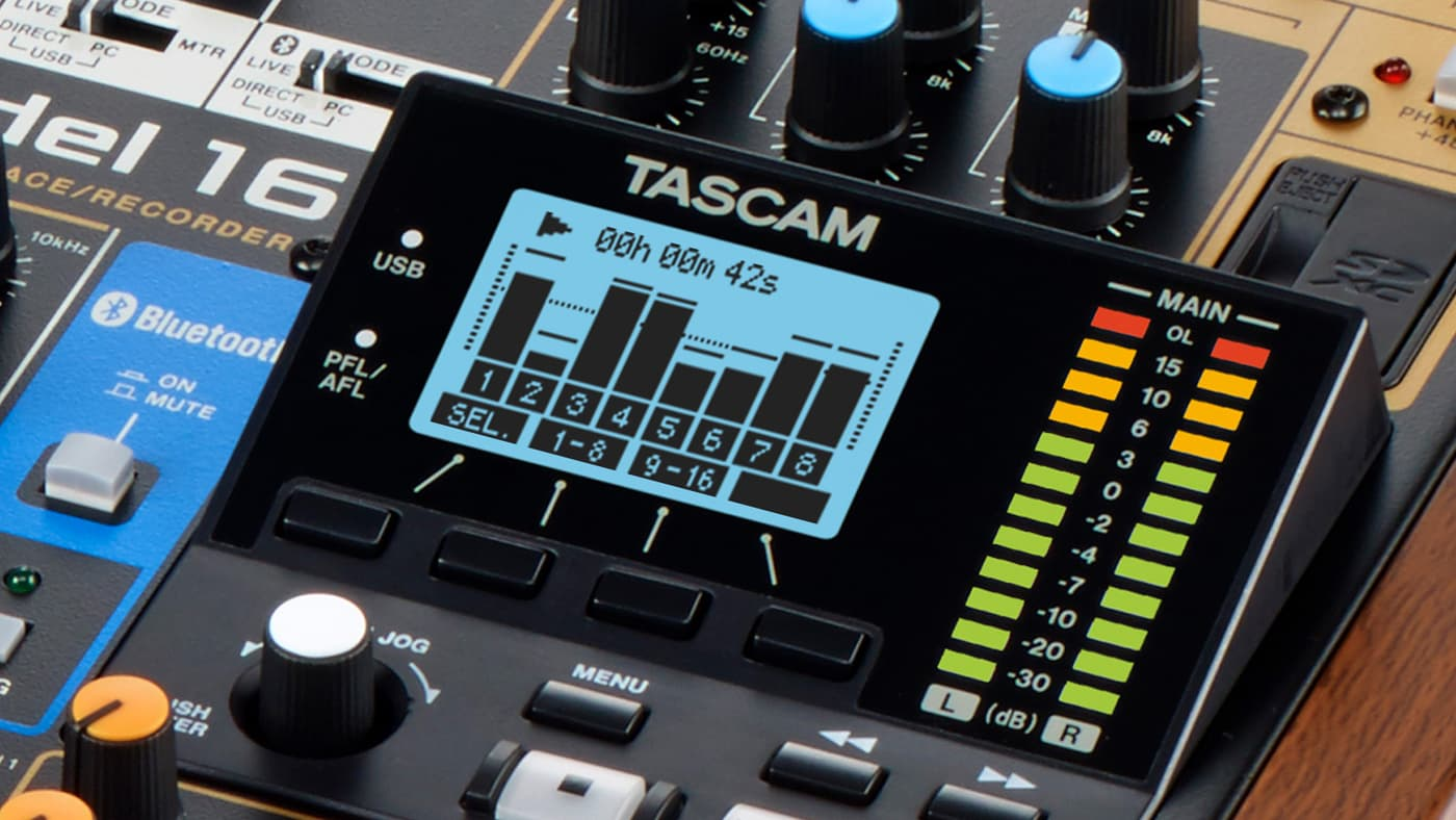 """Tascam Model 16 is an """"all-in-one"""" hybrid recording and mixing studio"""