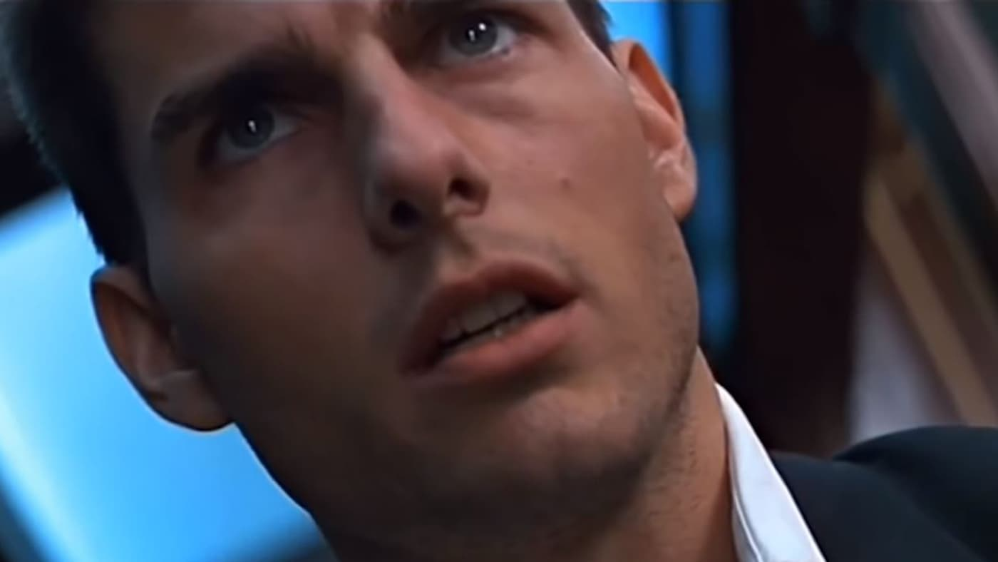 Tom Cruise's Ethan Hunt in the first Mission: Impossible