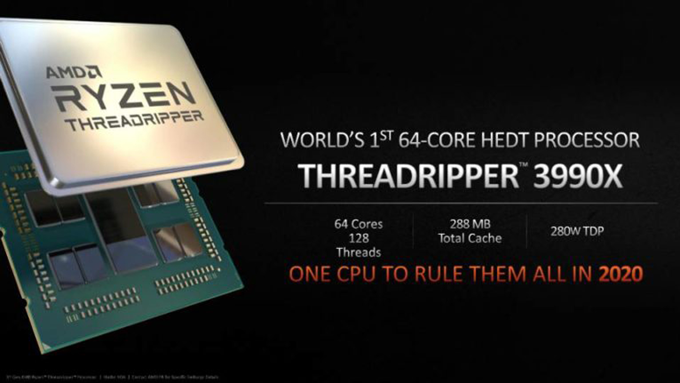 Leaked Threadripper 3990X specs