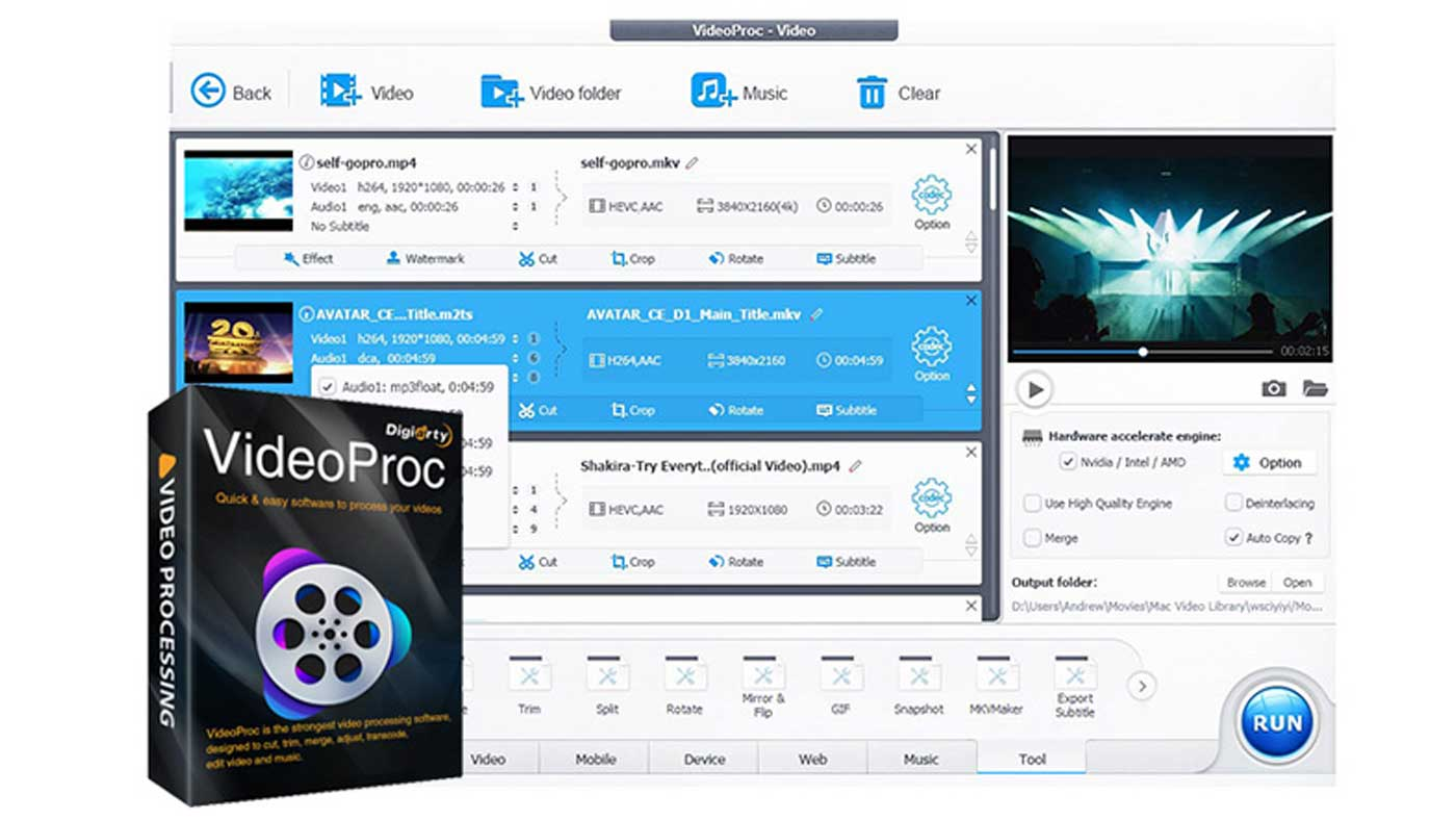 VideoProc Full GPU-Accelerated 4K Video Processing Software