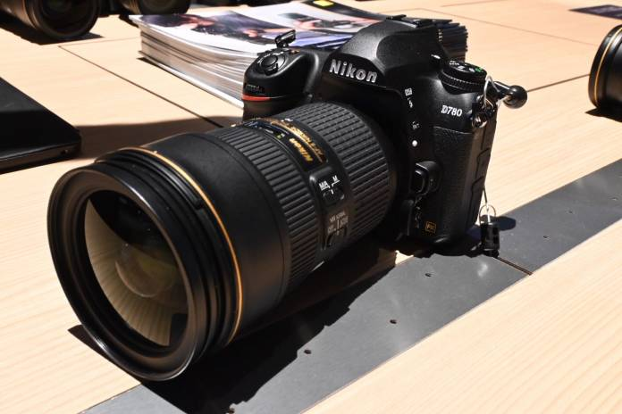 the Nikon D780 on view at CES 2020