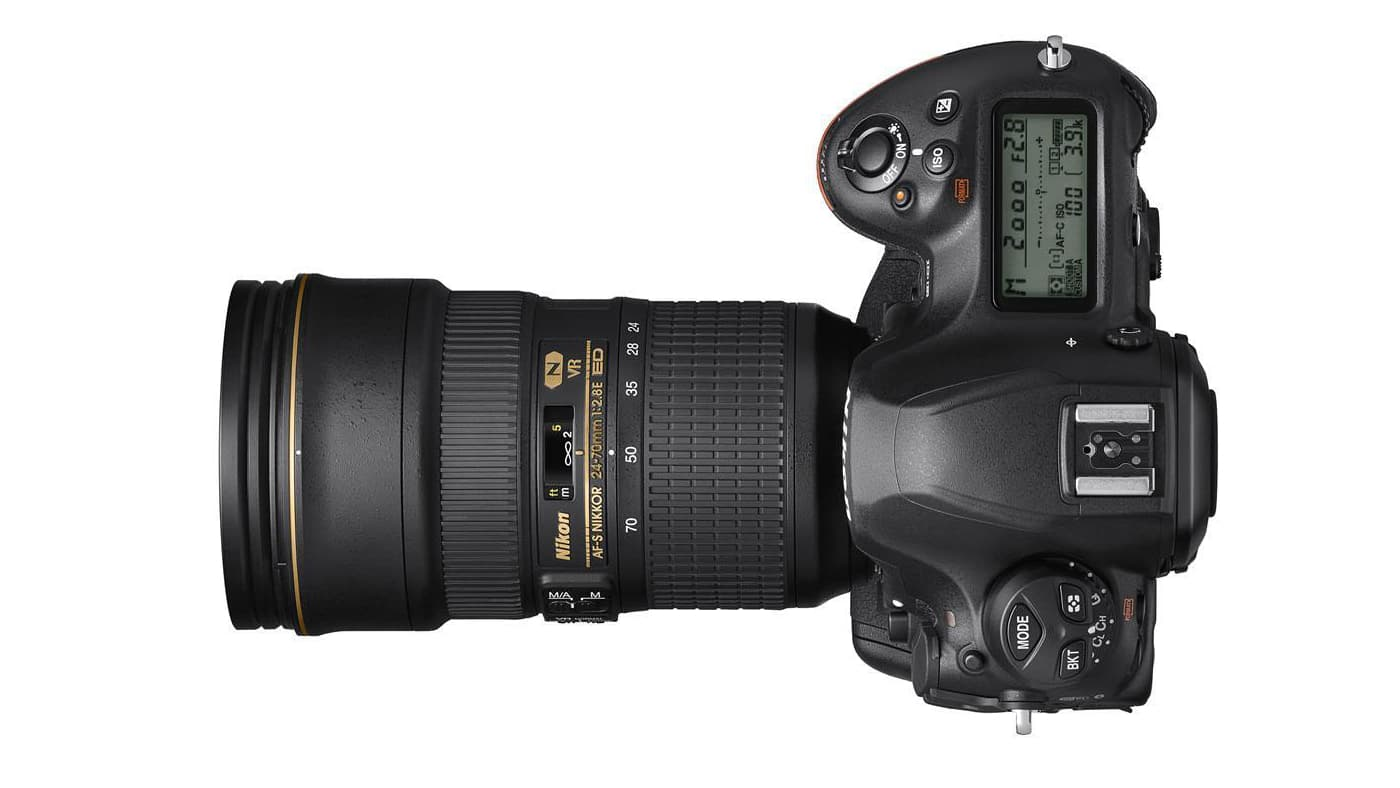 Top view of the Nikon D6